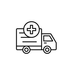 delivery truck add plus icon loading shipment vector image