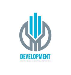 development - logo template concept vector image