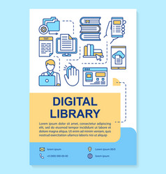 digital library poster template layout banner vector image