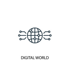 digital world icon simple element vector image