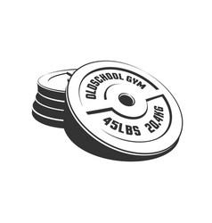 Disks for a heavy weight barbell in a stack vector