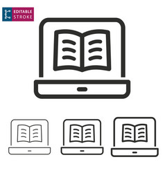 e-learning line icon editable stroke vector image