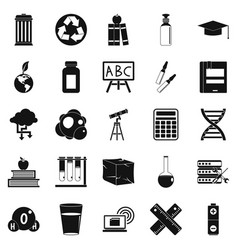 element icons set simple style vector image