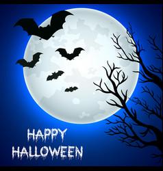 Flying bats in halloween night vector