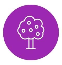 Fruit tree line icon vector