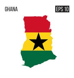 ghana map border with flag eps10 vector image