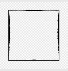 grunge black frame on transparent background vector image