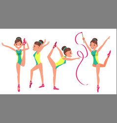 gymnastics girl player female exercise vector image