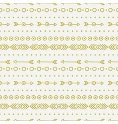 Hand drawn gold geometric ethnic seamless pattern vector