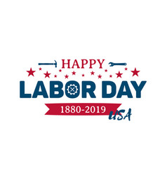 Happy labor day greeting banner national usa vector