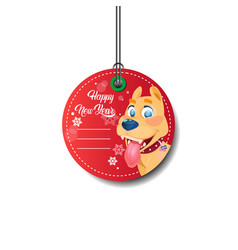 Happy new year tag holiday discount tag isolated vector