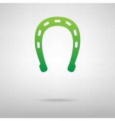Horseshoe black green icon vector image