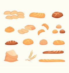 icons in a flat bread style vector image