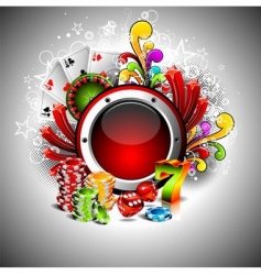 illustration on a casino theme vector image