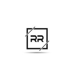 initial letter rr logo template design vector image