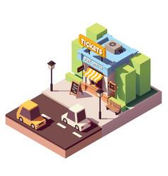 isometric ticket office building vector image