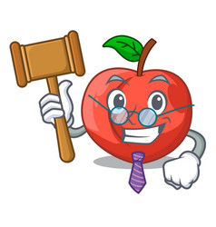 Judge fruit of nectarine isolated on mascot vector