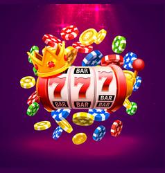 king slots 777 banner casino vector image
