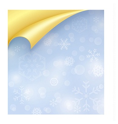Light Blue Paper with Snowflake Texture and Curled vector