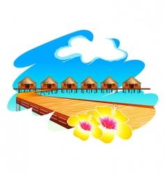 maldives holiday vector image vector image