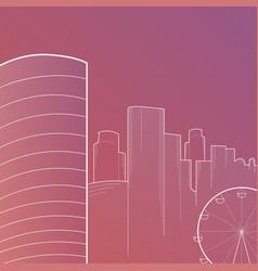 modern big city skyline background vector image