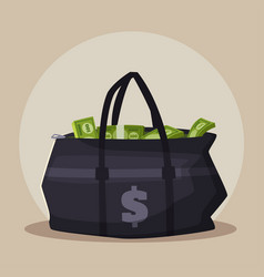 money bag cartoon vector image