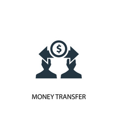 money transfer icon simple element vector image