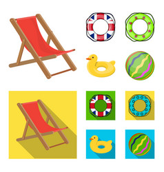 Multicolored swimming circle cartoonflat icons in vector