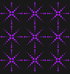 neon purple seamless pattern with dots sparkles vector image