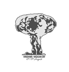 Nuclear explosion isolated on white background vector