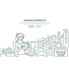 organic cosmetics- modern line design style web vector image