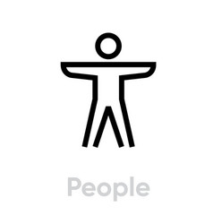 people sport activity icon vector image