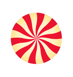 Peppermint cream candy spiral red and yellow vector