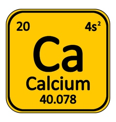 Periodic table element calcium icon vector