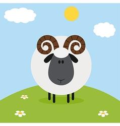 Ram on a Farm Backdrop vector