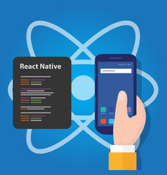 react native mobile programming code developer vector image