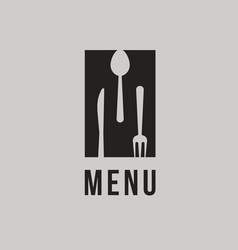 restaurant logo concept abstract black silhouette vector image