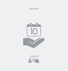 service offer - calendar icon - minimal icon vector image