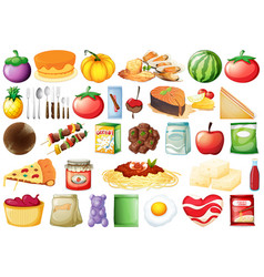 Set many food vector