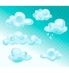 Set of blue sky vector image