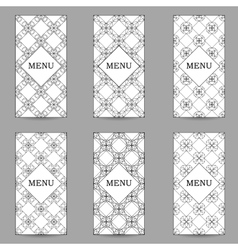 set of brochures or ornamental geometric vector image