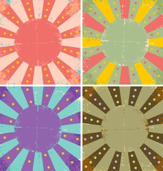Set of of old sheets of paper vector image