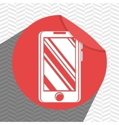 smartphone icon design vector image