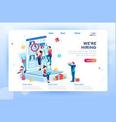 social presentation for hiring vector image