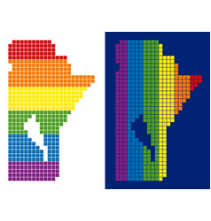 Spectrum pixel dotted manitoba province map vector