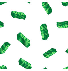 stacks euro cash seamless pattern background vector image