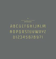 Stencil-plate sans serif font vector