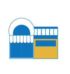 supermarket building icon vector image