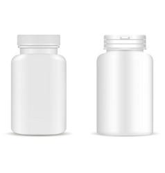 Supplement bottle pill bottle mockup medicine jar vector