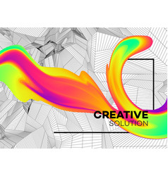 trendy abstract background with dynamic particles vector image